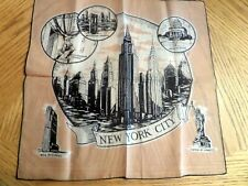 Vintage New York City The Empire State Handkerchief Hankie