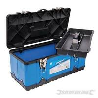 Silverline Toolbox Impact Resistant Polypropylene BLUE  580x290x255mm