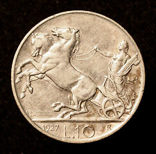 Kgr. Italien, Vittorio Emanuele III., 10 Lire 1927 R