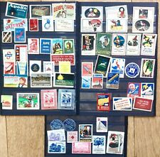 Orig lot 100+ Czech Poster stamps, Reklamemarken, advertising stamps, vignettes