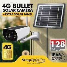 4G Solar Camera + EXTRA SOLAR PANEL + 128GB SD /  IP66 Weatherproof