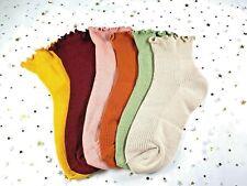 6 Pair Fashion Women Ankle Cotton Ruffles Socks Spring Summer Girl Casual US