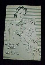 Vintage Bag Of Tricks Book Cotton Feedsack Flour Sack Uses Reproduction