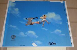 Superman Animated Series Original Production Cel Supergirl Kara Flying Goose!
