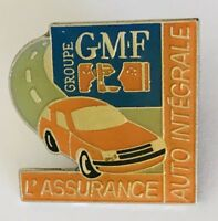 GMF Groupe Auto Insurance Car Advertising Pin Badge Brooch Vintage (C4)