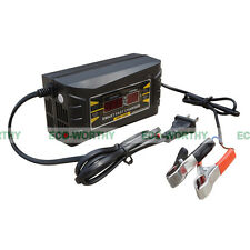 12V 6A Auto Smart Fast Lead-acid Battery Charger for Car Motorcycle LCD Display