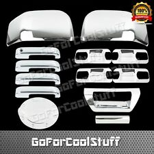2015 Ford F-150 4Drs W/O Pskh+Base Plate+Mirror+Tailgate+Gas Abs Chrome Covers