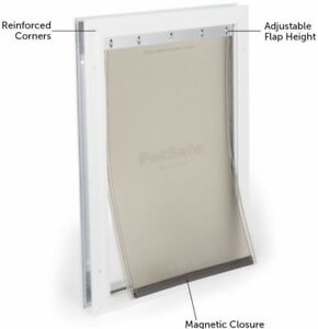 FREE SHIPPING New PetSafe Large Freedom Alum Pet Door Magnetic Flap HPA11-11600