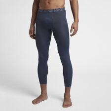 Nike Men's 3/4 Correr/Entrenamiento Mallas Azul/Gris AJ1685 471 CVT T19 XL