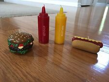 Party Candle. Hamburger, Hotdog, Ketchup, Musturd. Cookout Themed. Summer Time.