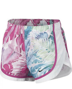 New Women's Nike Dry Tempo Hyper Femme Running Shorts Floral Pink Plus Size XXL