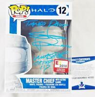 STEVE DOWNES MASTER CHIEF SIGNED E3 EXCLUSIVE FUNKO POP HALO BAS COA 355