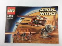 Lego Star Wars Geonosian Fighter Set 4478 Instructions Booklet Manual Only 2003