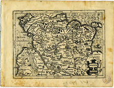 1607 Genuine Antique map northern Germany. Hamburg. Holsatia. Mercator/Hondius