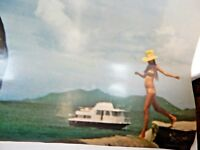 Original American Airlines St. Thomas Travel Advertising Poster Vintage 60s