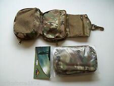BCB Multicam MTP Army Style Folding Wash Bag Small Medic Pouch - Zip Closure Bag