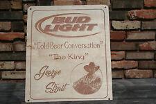 George Strait Bud Light Cold Beer Conversation Custom Wood Sign