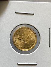 2017Canada Gold Maple Leaf 1/10 oz $5 - BU