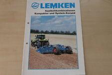 158095) Lemken Saatbettkombination Kompaktor System-Korund Prospekt 03/2002