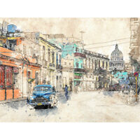 Cuba Havana Street Car *DISCOUNTED OFFERS*  A3 A4 Original Poster Print