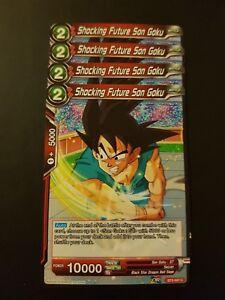 4x Shocking Future Son Goku Dragon Ball Super Card Game