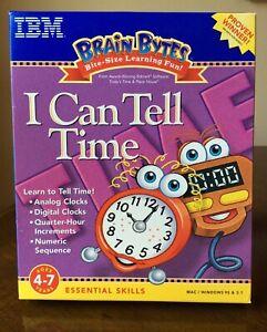 IBM New Brain Bytes I Can Tell Time Mac/Windows 95 7 3.1 CD-ROM 1998