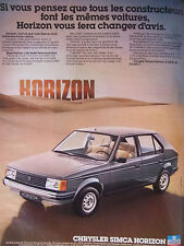 PUBLICITÉ DE PRESSE 1978 CHRYSLER SIMCA HORIZON GL - ADVERTISING