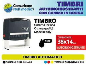TIMBRO AUTOMATICO 38X14 mm AUTOINCHIOSTRANTE PERSONALIZZATO