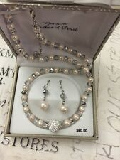 New Genuine Mother of Pearl Necklace and Earring Set - NIB!
