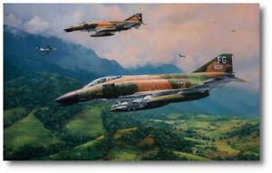 MiG Encounter by Anthony Saunders - McDonnell Douglas F-4 Phantom II