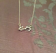 FREE GIFT BAG Silver Plated SCORPIO Zodiac Sign Astrology Necklace Constellation
