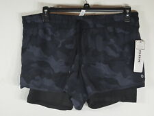 RBX Woman's Shorts XL with tech pocket Camo Black MSRP$48.00 NWT
