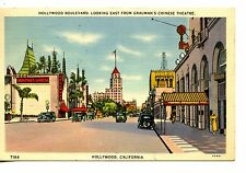 Hollywood Boulevard-Amar & Albuq RPO Cancel-California-Vintage 1939 Postcard