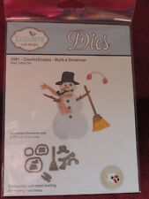 NEW Elizabeth Crafts Designs Cutting Die Set COUNTRY SCAPES BUILD A SNOWMAN DIES