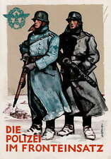 German WW2 Polizei Waffen SS Officer Poster