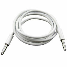 6ft 3.5mm to 3.5mm Port Auxiliary Audio Cable Connect Phone to Stereo - WHITE