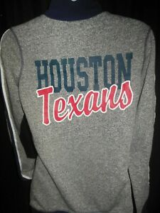 Houston Texans NFL Juniors Pullover 1/4 Zip Shirt Med 7/9 Length 26 Pit 18 inch