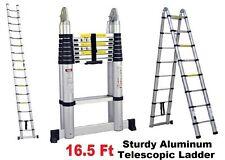 ProLad Portable 16.5 Feet Telescoping Aluminum Extension Ladder Heavy Duty