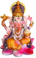 """Ganesha Statue 3.25"""" Small Ganesh with a bowl of Laddus giving blessing (MING)"""