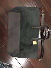 NEW Ulta Weekender Large Herringbone Grey Wool Travel Tote Bag cross body strap