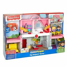 Fisher-Price DollHouse Little People Big Helpers Home Children's Toys Pink