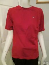 """NIKE RUNNING - RED CREW NECK, NIKE FIT """"TRAINING"""" ,T-Shirt Size S,100% POLYESTER"""