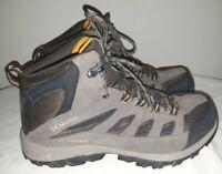 Columbia Men's Crestwood Mid Waterproof Hiking Boot, Cordovan/Squash, Size 9.5 W