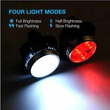 Bike Light Set, Usb Rechargeable Super Bright Bicycle Light, Waterproof, 4 Modes