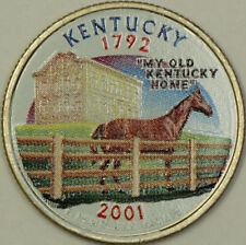 2001-D Colorized Kentucky State Quarter