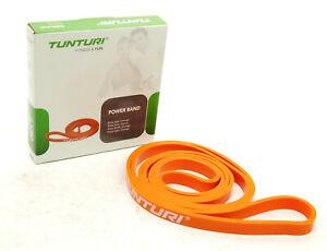 TunTuri Power Band Extra Light/Orange - Fitness Exercise Rubber Resistance