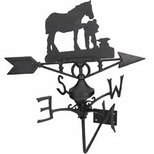 More details for horse / mare farrier weather vane vain wall mount house roof cast iron shoe