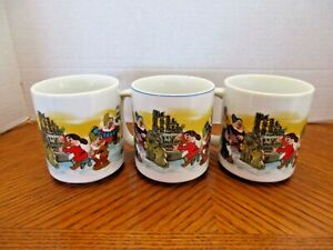 Cute Set of 3 Snow White and The Seven Dwarfs 10 oz. Coffee Mugs  from Disney