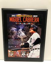 """MIGUEL CABRERA 2012 AMERICAN LEAGUE MVP ..13"""" X 10"""" Plaque"""