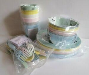 IKEA KALAS CHILDREN'S KIDS PLASTIC BOWLS PLATES MUGS & CUTLERY FULL SET NEW